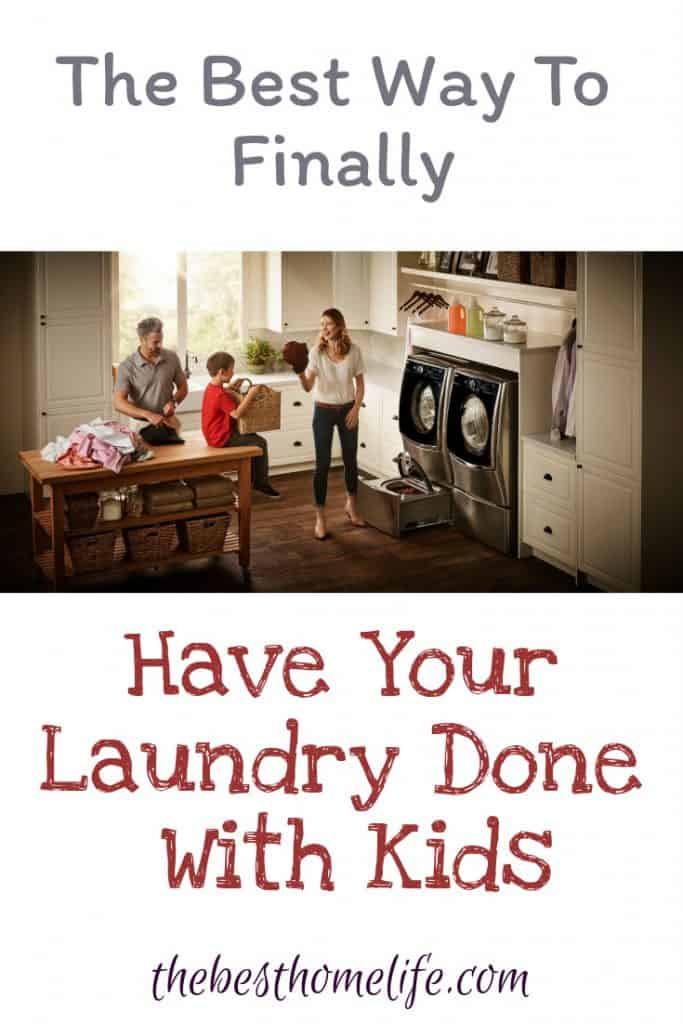 #ad @BestBuy @LGUS Stop letting laundry day bring you down. Find some of the best ways to keep laundry day easy to do with a family with young children.