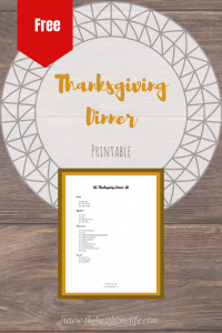 Free Thanksgiving Dinner Printable