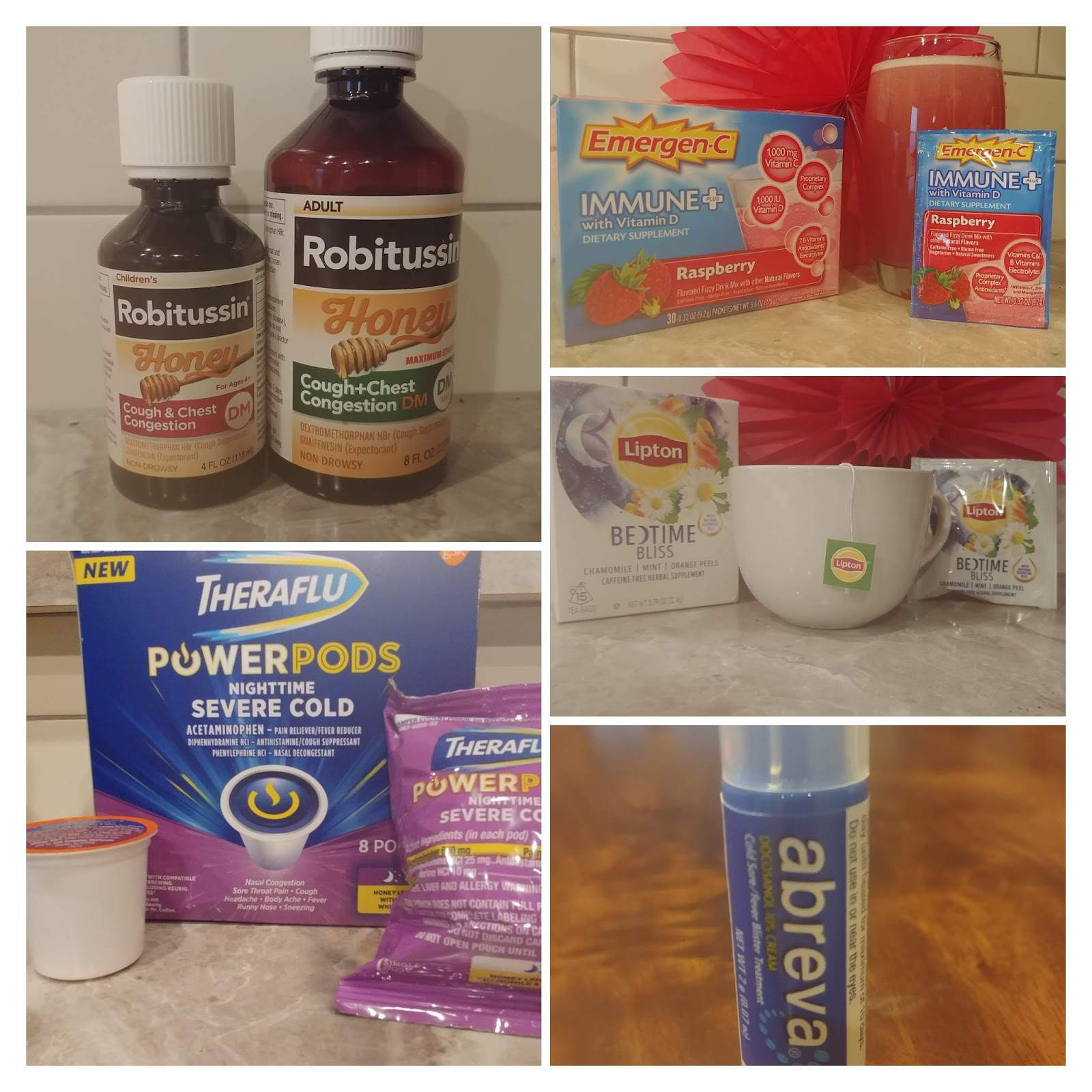 Sick Day Tips For The Busy Parent #ad This shop has been compensated by Collective Bias, Inc., Abreva, Emergen-C, Lipton, Robitussin, Theraflu. All opinions are mine alone. #SickDayTips #CollectiveBias
